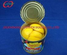 Wholesale canned food, canned yellow peach halves in light syrup