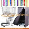 laundry store equipment/steel transparent trolley and pallet cages