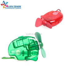 Promotional mini handheld fan with key ring