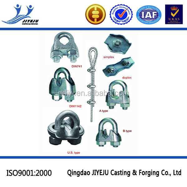 Hardware Rigging Stainless Steel Cable Wire Rope Clamp Din741 - Buy ...