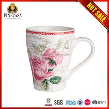 2015 Top Quality Cheaper Bulk Colorful stoneware coffee mugs and handpaint