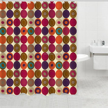 Top quality printing dots and rings polyester bathroom curtain shower curtains window curtains