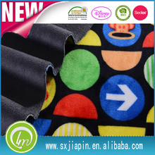 100% polyester knitted plush designs super soft velboa fabric painting for cloth