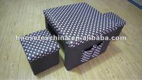 foldable storage pouffe
