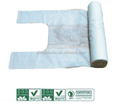 t-shirt and vest plastic bag on roll
