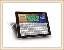 English and Russian language intelligent learn computer keyboard for kids