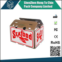 Factory OEM Design corrugated wax coated waterproof box wholesale custom frozen food shipping boxes