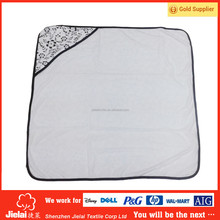 High quality velour customized printed hooded towel