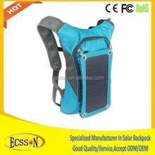10000mah nice colour cheap solar backpack for Camping & Hiking & Cycling & Hunting & Day