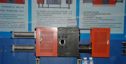 Melt filter for waste material recycling granulator extrusion machine