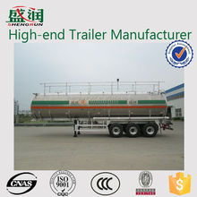 China Best Selling Shengrun Brand 3 Axles Aluminum Oil/Fuel Tank Semi Trailer