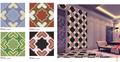 Mosaico de cerámica, Patrón de flores