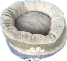dog paw round pet bed