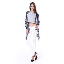 Wholesale hot saling and reordered fashion long sleeve ladies Knit shrug, brocade sweater woman