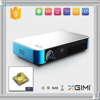 mini portable 3d led projector for smart tv with remote control