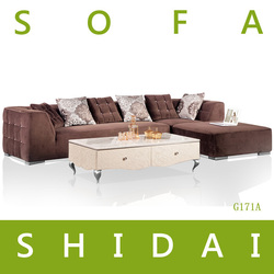 new l shaped sofa designs / small l shaped sofa / sofa fabric samples G171A