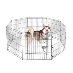 Black Metal Enclosure Foldable Pet Dog Playpen