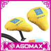 Promotional logo printed yellow waterproof bicycle saddle cover