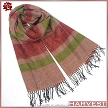 Wholesale Lady's Air Conditioning Cape Tassel Shawl Scarf Long Stripe Scarf