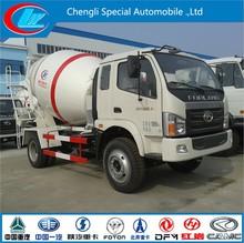 foton 4X2 agitating lorry mixer truck double axle concrete mixer