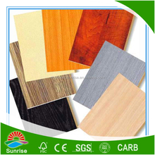 china factory supply with melamine paper laminated particle board sheets