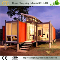 Reliable Flat packed 20ft newest design refugee container house for sale/40ft cheap house container office/container house price