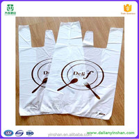 High quality HDPE vest bag design your own t-shirt plastic bag wholesale