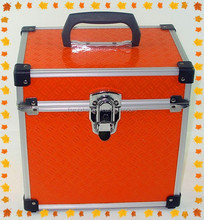 Orange heavy duty tool box hard aluminum instrument case with foam RZ-ST-085
