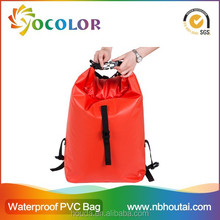 2015 New Design 500D pvc tarpaulin dry bag backpack with straps for hicking