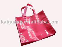 shiny PVC bag,fashion shopping bags,mirror leather shopping bag