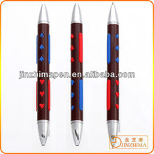 High quality exclusive metal ballpoint pen double ball pen