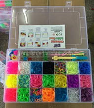 2200pc/4200pc/10000pc/15000pc wholesale rubber loom bands kit