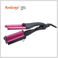 Wave Hair Curler with big wave,small wave and 2 barrel curler use