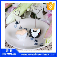 Wedding Souvenir Heart Shaped Topiary Photo Holder Place Card Holder