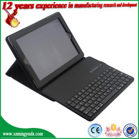 pu leather case with bluetooth keyboard for iPad 2 smart case , for ipad 3 case , for ipad 4 case