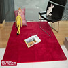 eco washable shaggy red carpet and rug floor price