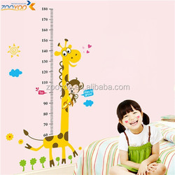 Removable kids giraffe height growth chart wall wall stickers cartoon wall decor for nursery room ( ZY 831)