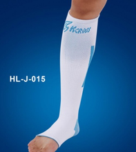 Health care white and blue colour long ankle care support brace