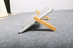 Fancy Bamboo/ Wooden Case Combined Two-parts Stand For ipad for Apple Iphone