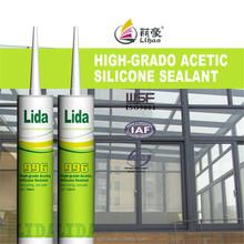 aluminum/glass frame construction window usage acetic silicone sealant