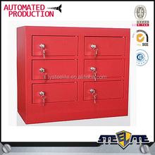 Luoyang modern style 6 doors red steel locker,locker cell phone charging station