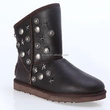 Rivet snow boots 2015 Womens classic snow boots warm sheepskin wool-ones now boots Factory provide