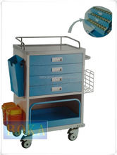 CE/ISO certificate Medical Equipment Hospital Using Emergency Trolley Equipment cart