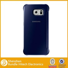 Luxury Design for Samsung S6 case view, flip leather case for Samsung S6 edge