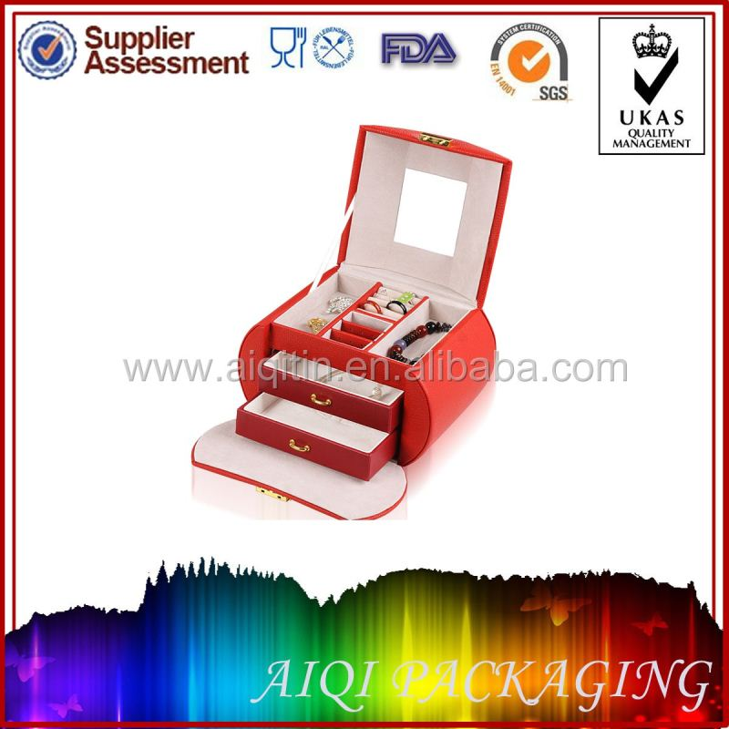 2014 newest hot selling pu paint leather wine carrier with solid cylinder cardpaper