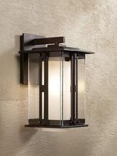 """0524-6 Fallbrook Collection 11 3/4"""" High Bronze Outdoor Wall Light"""