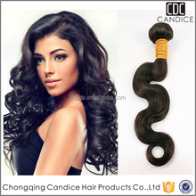 7a Body Wave Virgin Brazilian Hair Extensions With Black Color