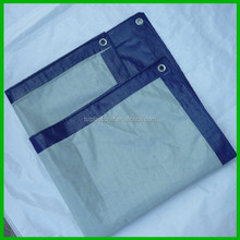 Fire-Retardant White Poly Tarp