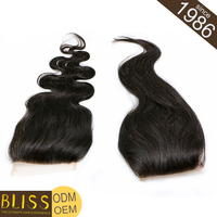 Nonprocessed 100% Full Cuticle Indian Virgin Lace Closure Free Part