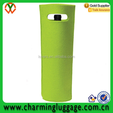 2015 china supplier promotional green felt wine bag wine bottle bag wine bag